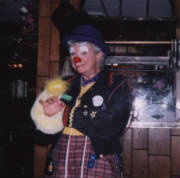 Rowdy, the Clown, of the Happy Valley Clowns